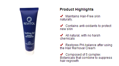 Revitol Hair Inhibitor From Our Natural Health And Beauty Store